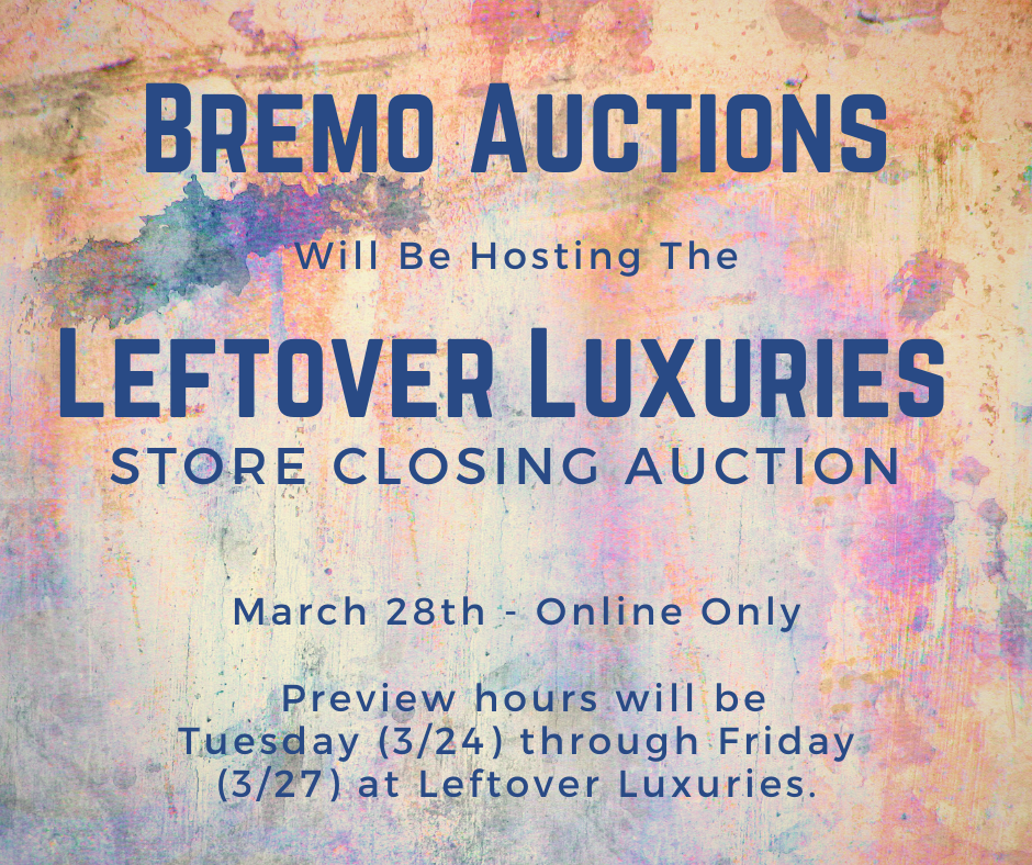 Bremo Auctions Host Leftover Luxuries